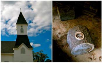zebulon GA church steeple with log work table .jpg